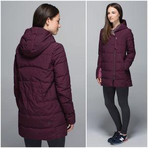 Rare Lululemon Puffy Blanket Jacket Bordeaux Drama